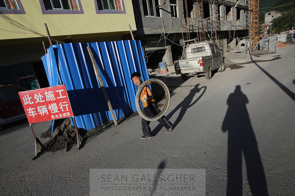A young boy in the town of Heishui on the south-east edge of the Tibetan Plateau in Sichuan Province, western China.