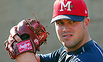 21 April 2007: RHP Joey Devine of the Mississippi Braves, the Atlanta Braves' Class AA affiliate of the Southern League, in a game against the Birmingham Barons at Trustmark Park in Pearl, Miss.