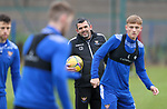 St Johnstone Training…<br />Manager Callum Davidson pictured during training at McDiarmid Park ahead of tomorrow's Betfred Cup game against Peterhead.<br />Picture by Graeme Hart.<br />Copyright Perthshire Picture Agency<br />Tel: 01738 623350  Mobile: 07990 594431