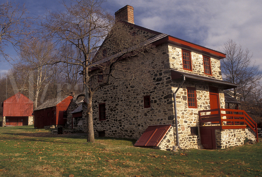 AJ3314, Brandywine Valley, Pennsylvania, Lafayette's Quarters at Brandywine Battlefield Park in Chadds Ford in the state of Pennsylvania.