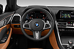 Car pictures of steering wheel view of a 2019 BMW 8 Series Basis 4 Door Sedan