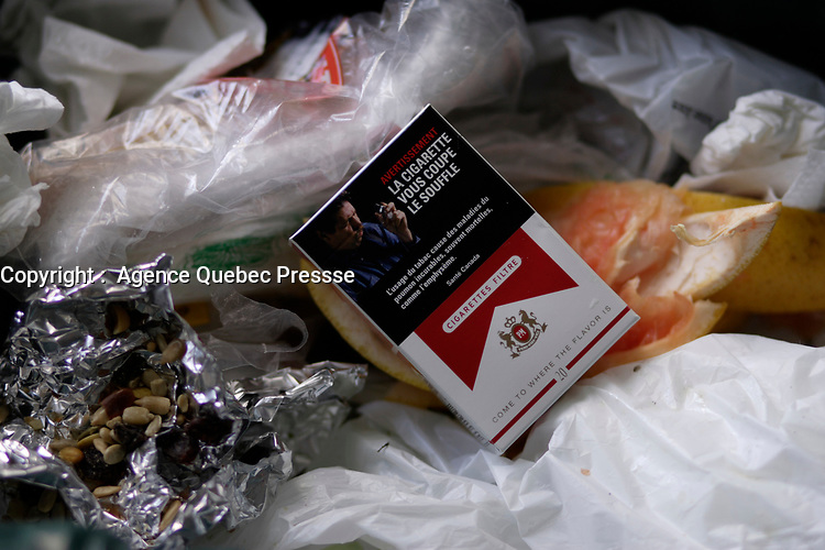 Montreal (qc) Canada - cigarette pack in garbages