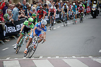 Bjorn Leukemans (BEL/Wanty-GroupeGobert) leading an elite group of riders onto the 3rd ascent of the Cauberg<br /> <br /> Amstel Gold Race 2014