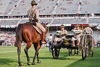 Texas A&M cadets pull a cannon around the field before NCAA Football game, Saturday, September 06, 2014 in College Station, Tex. (Mo Khursheed/TFV Media via AP Images)