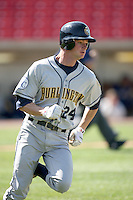 May 14, 2009: Kyle Martin (24) of the Burlington Bees at Elfstrom Stadium in Geneva, IL.  Photo by: Chris Proctor/Four Seam Images