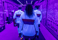 ORLANDO, FL - JANUARY 22: Catarina Macario #29 of the USWNT walks through the tunnel before a game between Colombia and USWNT at Exploria stadium on January 22, 2021 in Orlando, Florida.