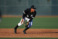 AZL White Sox shortstop Samil Polanco (13) flips a ball to second base during an Arizona League game against the AZL Royals at Camelback Ranch on June 19, 2019 in Glendale, Arizona. AZL White Sox defeated AZL Royals 4-2. (Zachary Lucy/Four Seam Images)