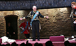 Oliver Chris, Tim Pigott-Smith and Richard Goulding during the Broadway Opening Night performance curtain call bows for 'King Charles III' at the Music Box Theatre on November 1, 2015 in New York City.