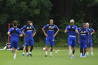 Bobby Zamora and the QPR team in training