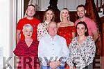 Connie Mahony Knocknagree celebrated his70th birthday with his family in the International Hotel Killarney on Saturday night front row l-r: Mary and Connie O'Mahony, Linda Regan. Back row: Conor O'Mahony, Niamh Crowley, Eilish O'Callaghan and Patrick O'Mahony