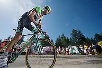 Laurens Ten Dam (NLD/Belkin) up the final climb to Chamrousse (1730m/18.2km/7.3%)<br /> <br /> 2014 Tour de France<br /> stage 13: Saint-Etiènne - Chamrousse (197km)