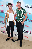 Cam Holmes and Robert Van Tromp<br /> at the 'Too Hot to Handle' season 2 screening, London.<br /> <br /> ©Ash Knotek  D3566 23/06/2021