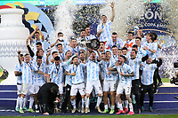 Celebration Victory Argentina during the Copa America 2021,final football match between Argentina and Brazil on July 10, 2021 at Estadio de Maracana in Rio de Janeiro , Brazil <br /> Photo Laurent Lairys / Panoramic / Insidefoto <br /> ITALY ONLY