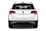 Straight rear view of 2018 Volkswagen Atlas SEL 5 Door SUV stock images