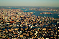 aerial photograph Harlem, Manhattan, Bronx, New York City