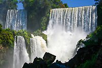 Iguazu Falls' natural wonders at the border of Brazil and Argentina, in South America.