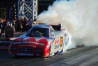 Oct. 30, 2011; Las Vegas, NV, USA: NHRA funny car driver Johnny Gray during the Big O Tires Nationals at The Strip at Las Vegas Motor Speedway. Mandatory Credit: Mark J. Rebilas-