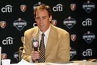 Sky Blue FC head coach Jim Gabarra,.. The WPS draft 2012 was held at the Kansas City Conference Center, Kansas City, Missouri.
