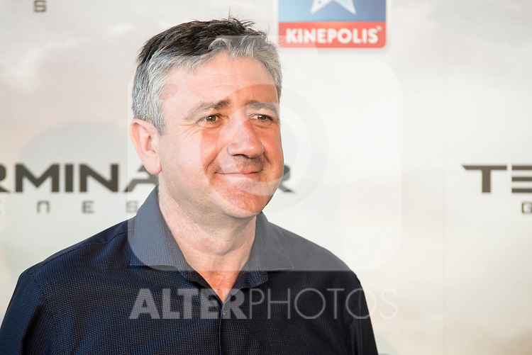 Host Ramón Arangüena attends to the premiere of Terminator Genesis at Kinepolis Cinema in Madrid, Spain. July 08, 2015.<br />  (ALTERPHOTOS/BorjaB.Hojas)