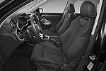 Front seat view of 2021 Audi Q3 S-line 5 Door SUV Front Seat  car photos