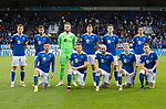 St Johnstone v Galatasaray…12.08.21  McDiarmid Park Europa League Qualifier<br />St Johnstone starting XI, back row from left, Jason Kerr, Callum Booth, Zander Clark, Liam Gordon, Jamie McCart and Murray Davidson.<br />Front row from left, Michael O'Halloran; James Brown, Chris Kane, Ali McCann and Liam Craig<br />Picture by Graeme Hart.<br />Copyright Perthshire Picture Agency<br />Tel: 01738 623350  Mobile: 07990 594431