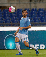 Calcio, Serie A: Lazio vs Udinese. Roma, stadio Olimpico, 13 settembre 2015.<br /> Lazio's Senad Lulic in action during the Italian Serie A football match between Lazio and Udinese at Rome's Olympic stadium, 13 September 2015.<br /> UPDATE IMAGES PRESS/Isabella Bonotto