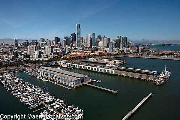 aerial photograph south beach piers San Francisco, California