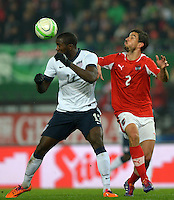 VIENNA, Austria - November 19, 2013: Jozy Altidore of USA and Gyorgy Garics of Austria during the international friendly match between Austria and the USA at Ernst-Happel-Stadium.