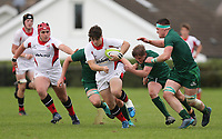 Saturday 8th September 2018 | Ulster U19s vs Connacht U19s<br /> <br /> Joel Dundas during the U19 Inter-Pro between Ulster and Connacht at Bangor Grammar School, Bangor, County Down, Northern Ireland. Photo by John Dickson / DICKSONDIGITAL