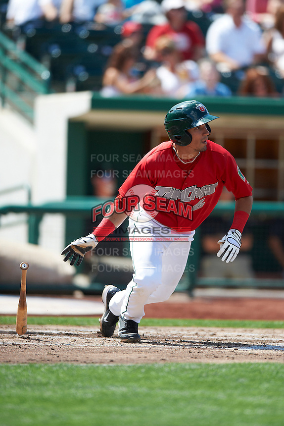 Fort Wayne TinCaps shortstop Jace Peterson #6 during a Midwest League game against the Dayton Dragons at Parkview Field on August 19, 2012 in Fort Wayne, Indiana.  Dayton defeated Fort Wayne 5-1.  (Mike Janes/Four Seam Images)