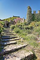 The Byzantine castle city of Mystras, Greece