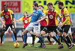 St Johnstone v Partick Thistle…11.02.17     Scottish Cup    McDiarmid Park<br />Chris Kane holds off Liam Lindsay<br />Picture by Graeme Hart.<br />Copyright Perthshire Picture Agency<br />Tel: 01738 623350  Mobile: 07990 594431