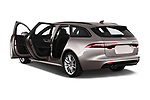 Car images close up view of a 2018 Jaguar XF Sportbrake R Sport 5 Door Wagon doors