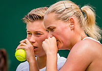 London, England, 8 July, 2019, Tennis,  Wimbledon, Women's doubles: Demi Schuurs (NED) and Anna-Lena Groenefeld (GER) (R)<br /> Photo: Henk Koster/tennisimages.com