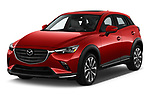 2019 Mazda CX-3 Grand-Touring 5 Door SUV Angular Front stock photos of front three quarter view