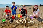 Enjoying Fenit beach on Sunday, l to r: Noah, Arlo and Lily Barrett and Cian O'Donoghue.