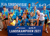 Netherlands, September 12,  2021, Naaldwijk KIA Competition mixed, premier league, LTC Naaldwijk vs TC Leimonias, :   Naaldwijk celebrates, they are Champion<br /> Photo: Henk Koster/tennisimages.com