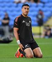 12th September 2021; Cbus Super Stadium, Robina, Queensland, Australia; Rugby International series, New Zealand versus Argentina:  Rieko Ioane during warm up session