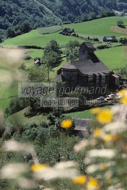 Europe/France/Aquitaine/64/Pyrénées-Atlantiques/Sainte-Engrace: l'église