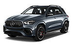 2021 Mercedes Benz GLE AMG-63-S 5 Door SUV Angular Front automotive stock photos of front three quarter view