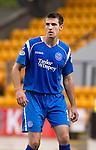 St Johnstone FC Season 2010-11.Scott Dobie.Picture by Graeme Hart..Copyright Perthshire Picture Agency.Tel: 01738 623350  Mobile: 07990 594431