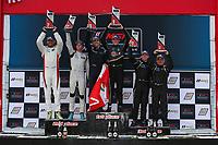 LMP3 Podium, #47 Forty 7 Motorsports Norma M30, LMP3: Austin McCusker, Rodrigo Pflucker, #52 PR1 Mathiasen Motorsports Ligier JS P3, LMP3: Scott Huffaker, Chris Archinaco, #9 JDC MotorSports Norma M30, LMP3: Gerry Kraut, Scott Andrews