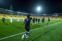 The teams run out for the rugby match between North and South at Sky Stadium in Wellington, New Zealand on Saturday, 5 September 2020. Photo: Dave Lintott / lintottphoto.co.nz