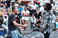 Dancing in the street of Athens, Greece