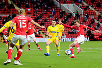 Alex Gilbey of Charlton Athletic takes a shot at the AFC Wimbledon goal during Charlton Athletic vs AFC Wimbledon, Sky Bet EFL League 1 Football at The Valley on 12th December 2020