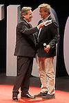 "The spanish journalists Inaki Gabilondo and Carles Francino during the Gala ""Contigo"" in celebration of the 90th anniversary of Radio Madrid Cadena SER. June 2, 2015. (ALTERPHOTOS/Acero)"