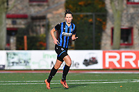Charlotte Laridon (15 Brugge) pictured during a female soccer game between Club Brugge Dames YLA and Oud Heverlee Leuven on the 8 th matchday of the 2020 - 2021 season of Belgian Scooore Womens Super League , saturday 21 th November 2020  in Knokke , Belgium . PHOTO SPORTPIX.BE | SPP | DAVID CATRY