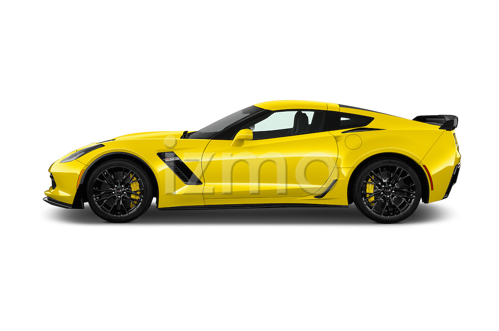 Car Driver side profile view of a 2018 Chevrolet Corvette Z06-Coupe-1LZ 3 Door Targa Side View