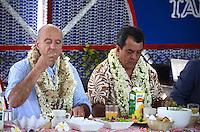 Alain JuppÈ & Edouard Fritch, Dominique Perben -<br /> Deplacement d'Alain JuppÈ a Tahiti dans le cadre de sa campagne pour les primaires aux elections presidentielles.