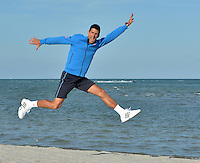 KEY BISCAYNE, FL - APRIL 05: Novak Djokovic of Serbia jumps for joy at Crandon Park after winning the Men's Final of the Miami Open presented by Itau against Andy Murray of Great Brittain at Crandon Park Tennis Center on April 5, 2015 in Key Biscayne, Florida<br /> <br /> <br /> People:  Novak Djokovic<br /> <br /> Transmission Ref:  FLXX<br /> <br /> Must call if interested<br /> Michael Storms<br /> Storms Media Group Inc.<br /> 305-632-3400 - Cell<br /> 305-513-5783 - Fax<br /> MikeStorm@aol.com